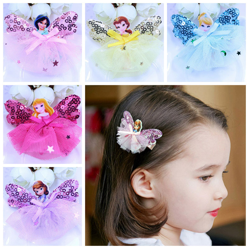 2018 Fashion Children Headwear Princess Hair Clips Hairbands Hair Accessories Barrettes Bandage hairgrip Hairpin For Cute Baby