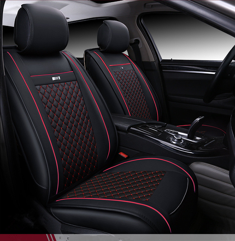QUEES Luxury Leather Car Seat Covers Split Design fit Most Cars SUV Truck for Nissan Qashqai Toyota Rav4 Highlander Mazda CX5 car seat