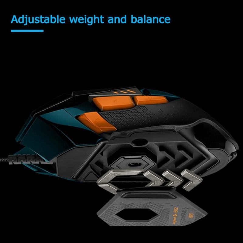 Игровая мышь logitech G502 Hero, 11 кнопок, RGM 16000 dpi, геймерская проводная мышь, регулируемая по весу мышь для PUBG/LOL - 6