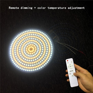 Image 5 - 40W 120W AC220V Cool white/Warm white Remote Round Aluminum plate Magnetic LED Ceiling Light LED Board Panel Circular Tube Light