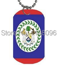 Low price and fast delivery Belize Flag Dog Tag hot sales custom Engraving on Back dogtags cheap custom made flag dog tag