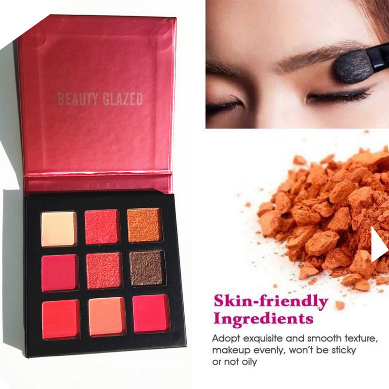 Contemplative 9color Glitter Eyeshadow Palette Pressed Shimmer Matte Eye Shadow Makeup Longlasting Eye Palette Hua For Beauty Cosmetic 5style Eye Shadow Beauty & Health