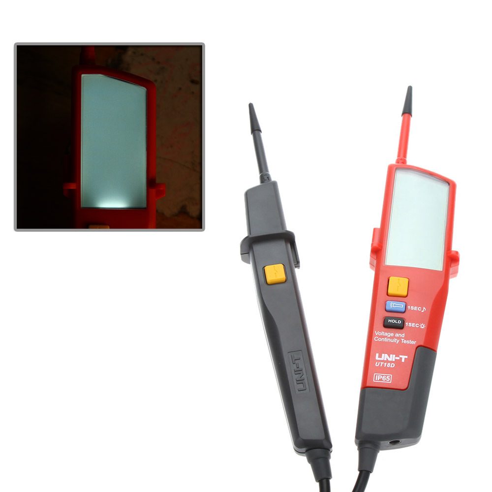 ФОТО UNI-T UT18D Auto Range Voltage Meter Continuity Tester with LCD Backlight Date Hold RCD Test and Self-inspection Detector