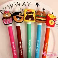 30 ピース/ロット韓国クリエイティブかわいい漫画のクマ動物記号ペンゲルペン青インクユニセックスペンローラーボールペン