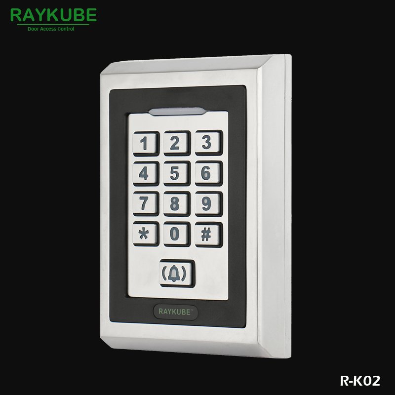 RAYKUBE RFID 125HKz Password Keypad Metal Case For Door Access Control System R-K02