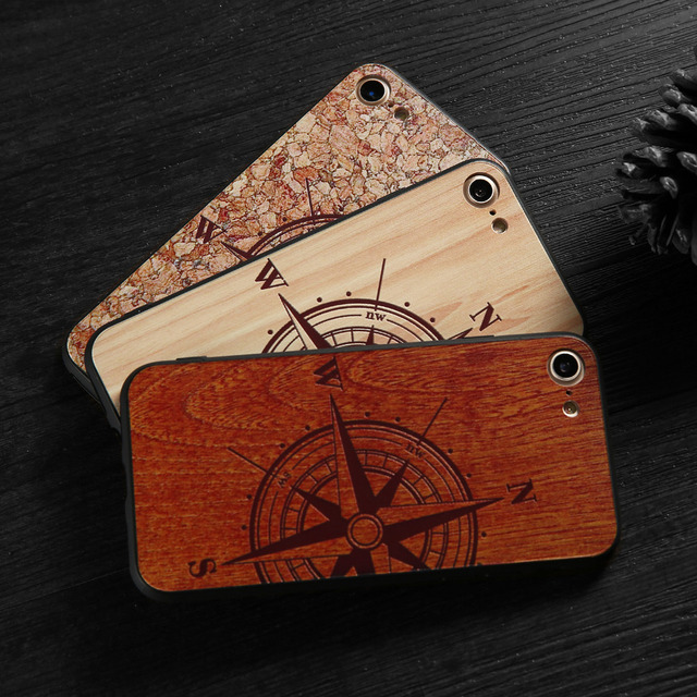 Natural Wood Compass Case for iPhone 2