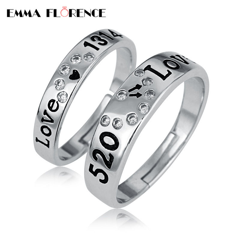 bands amazon inblue rings band ring tone men steel stainless couple promise dp s silver heart wedding womens women com jewelry