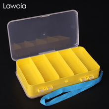 Lawaia Fishing Box Waterproof Road Sub-layer Double Frog Multi-function Sequins Lures Accessories Tackle