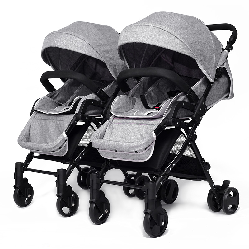 Gemini baby carriage ultra-lightweight can fold the transportation of newborns can sit can trolley S eparable umbrella car