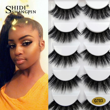 Get more info on the SHIDISHANGPIN 5 pairs mink eyelashes natural long false eyelash extension hand made make up soft fluffy 3d mink lashes faux cils