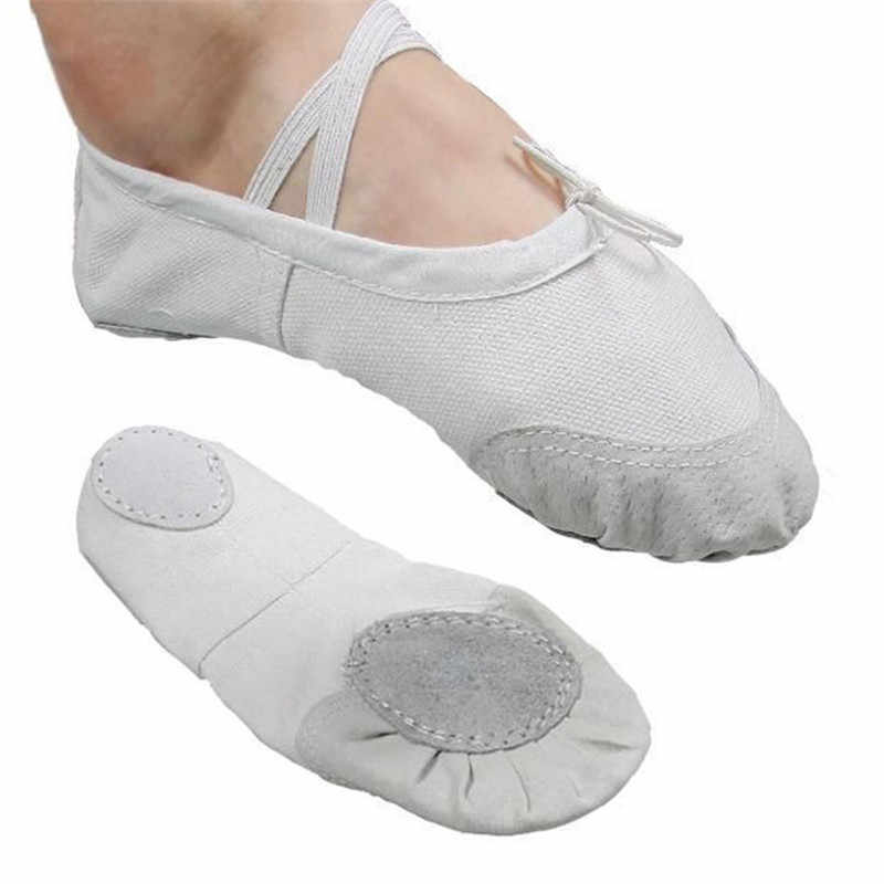bdfeef588ada Ballet Slippers For Girls Classic Split-Sole Canvas Dance Gymnastics Baby Yoga  Shoes Flats Kids