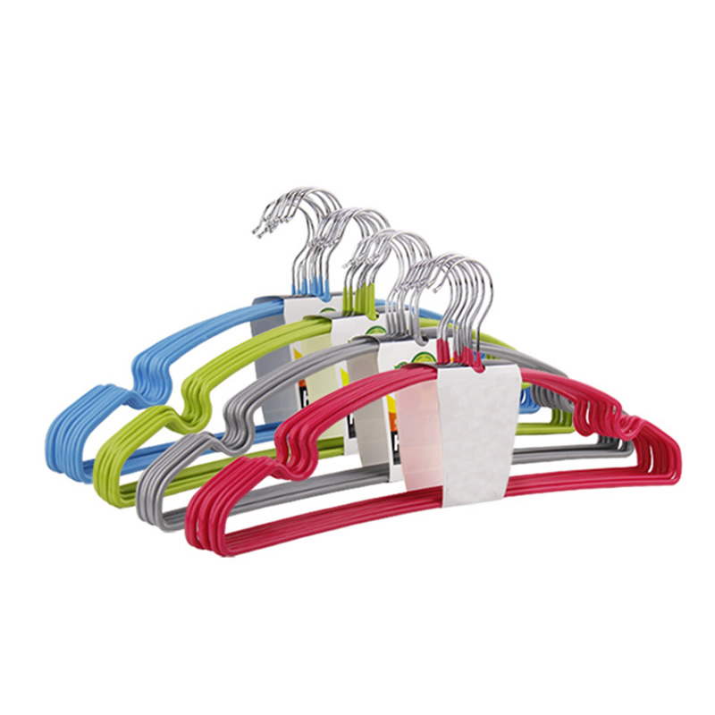 Stainless Steel Clothes Hangers 10pcs/Lot Portable 270 Degree Arc Hook Design Outdoor Clothing Drying Rack Coat Hangers Hook