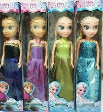 2017 Baby Dolls Snow Queen Princess Anna Elsa Dolls Mini Elsa Doll Kids Toys cartoon dolls children gift Girls birthda