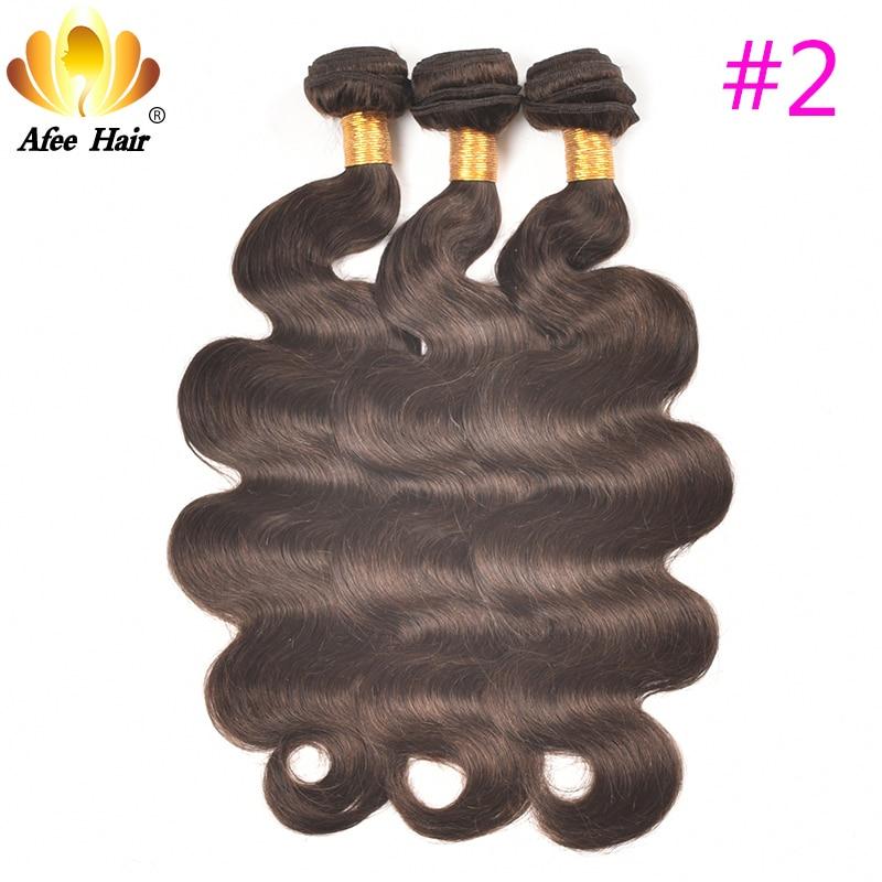 AliAfee Hårbrasilianska Body Wave Hair Weave Bundles 3 PC Deal Non - Mänskligt hår (svart) - Foto 4