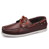 2019 designer men's shoes Hand Sewing Slip-On Mens Loafers Casual Driving Moccasins  Men Shoes Genuine Leather Men Boat Shoes 45 3