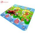 Nova chegada Duplo-Lado rastejando esteira do jogo do bebê dinossauro jogo de puzzle de espuma eva chão do ginásio macio crianças tapete para brinquedos dos miúdos