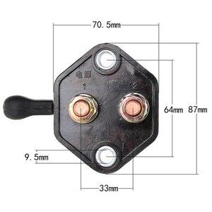 Image 5 - 12 V 24 V Waterdichte Keyless Batterij Isolator Cut Off Switch Auto Batterij Bescherming Schakelaar Voor Auto Marine boot Black
