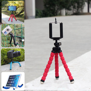 BGreen Octopus Mini Tripod With Clip Mount Adapter for Gopro թվային ֆոտոխցիկի Hero 3 և Բջջային հեռախոսներ iphone 6 6 Plus S5 S6