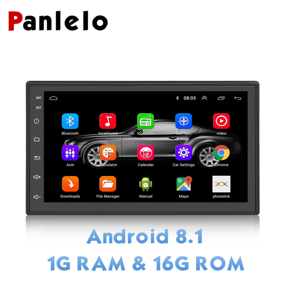 Panlelo S6 2 Din Android 8.1 Car Stereo 1080P 7 Inch Quad
