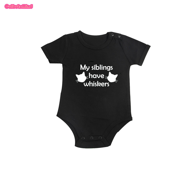 Culbutomind My Siblings Have Whiskers Baby Cat Body Suit Outfit Baby Shower  Gift Boys Girls First 1f52aa68b962