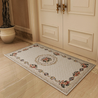 Carpet entry chenille jacquard entrance porch bedroom bedside Continental pastoral hall can be machine wash