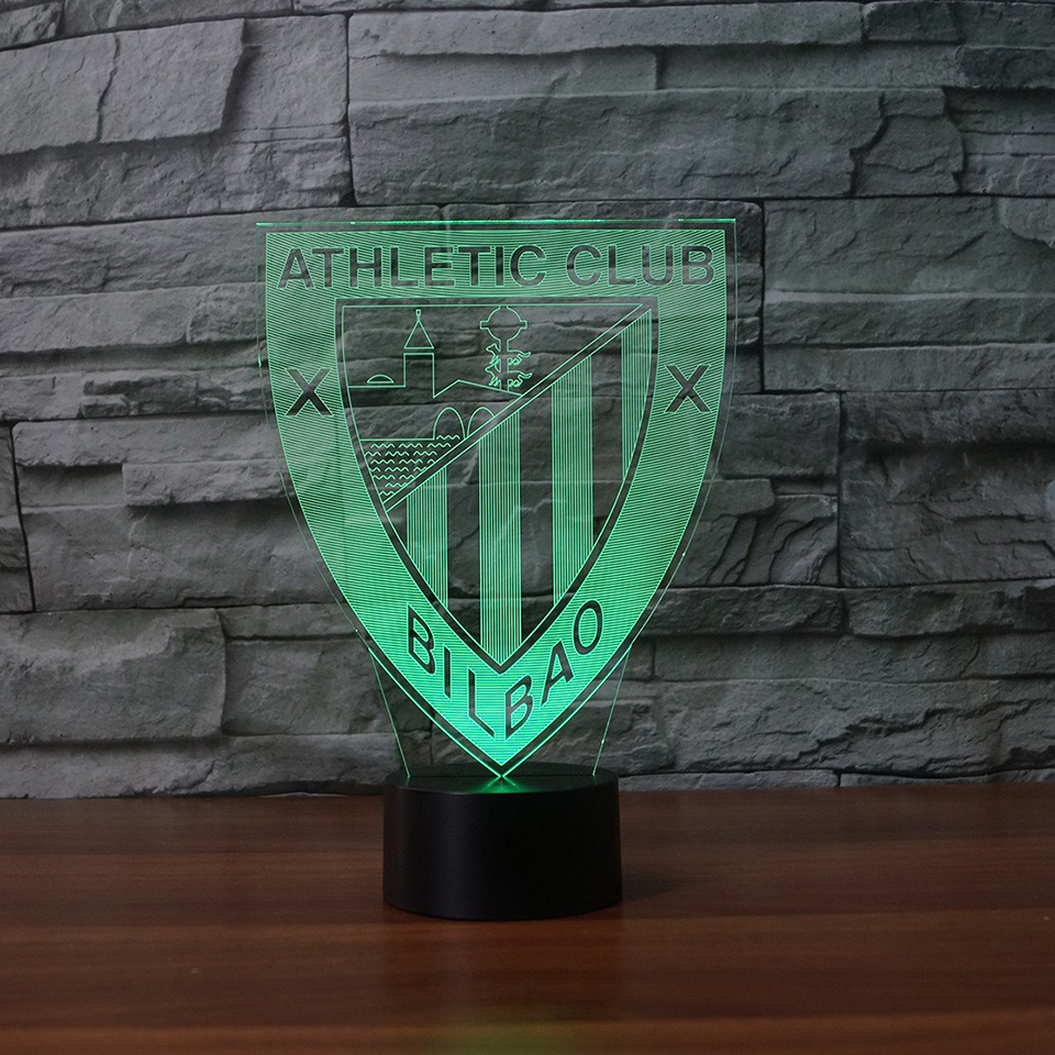 LED Modern Football Modelling 7 Colors Change 3D Luminaria Table Lamp Home Decor Night Light Bedside Lamp For Sports Fans Gifts premier league liverpool football club chrome 42 inch pub table