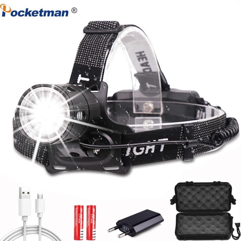 7000LM Headlamp Powerful XHP 50 Led Headlight Super Bright V6 Head Lamp Fishing Bicycle Flashlight Torch Linterna Camping Light