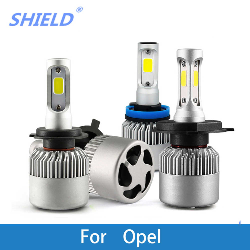 2 Pcs Auto Headlamp For Opel Astra Zafira Corsa 12V LED H1 H4 H7 H11 9005/HB3 9006/HB4 Car Headlight Bulb 12V 6500K 8000LM