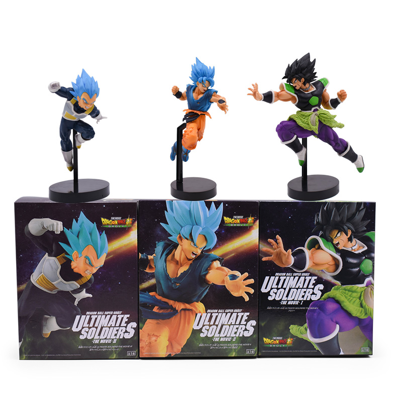 3 Styles Amine Doll Dragon Ball Z ULTIMATE SOLDIERS SUPER Broly Broli Son Goku Vegeta PVC Action Figure Toys