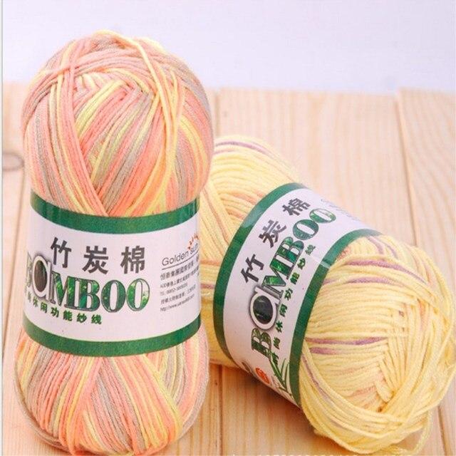 Top Qualitat Bambus Baumwolle Garn Hand Knititng Garn Hakeln Garn