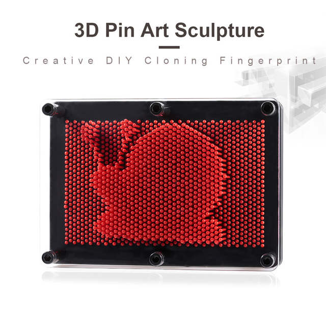 3D Pin Art Sculpture Toys Plastic Pin Board Game Hand Model Shape Pinscreen  Needle Painting Home Office Desk DecorationRP60