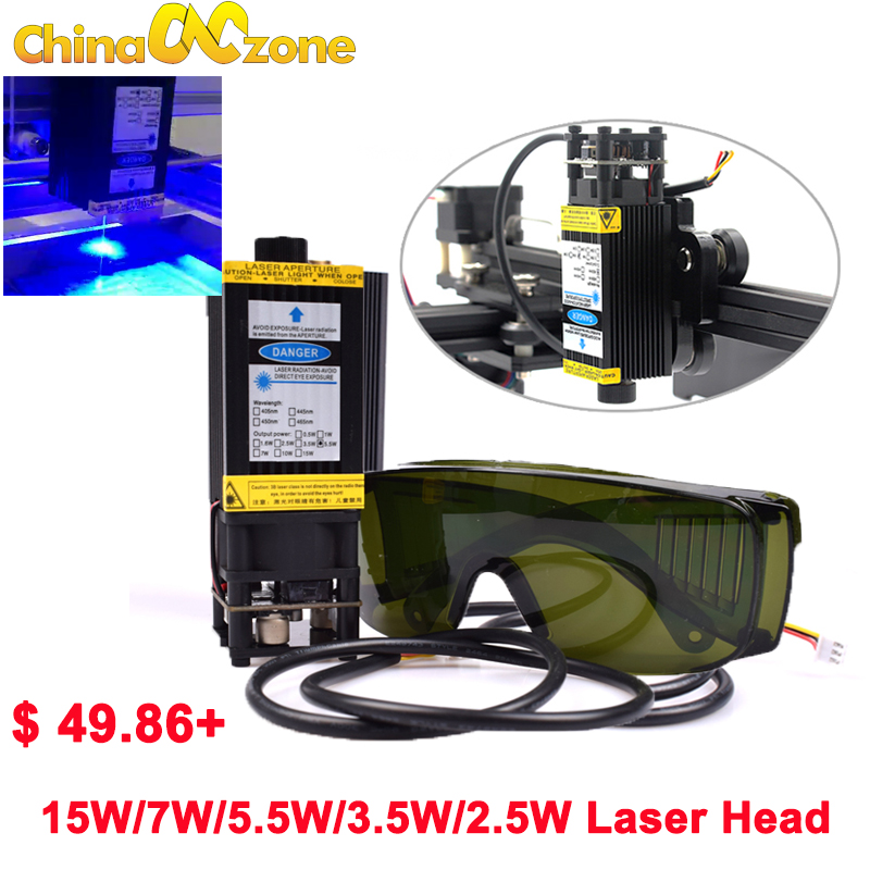 CNC blue Laser Engraving module 15W 5 5W 7W 450nm 12V focusable Laser module Engraving Machine