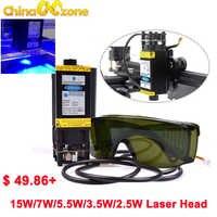 CNC blauw Lasergravure module 15 W 5.5 W 7 W 450nm 12 V focusable Laser module Graveermachine Deel laser Hoofd met TTL PWM