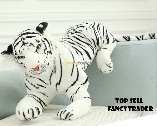 Fancytrader 51\'\'  130cm Giant Stuffed Emulational Tiger, 2 Colors Available, Free Shipping FT90241 (3)