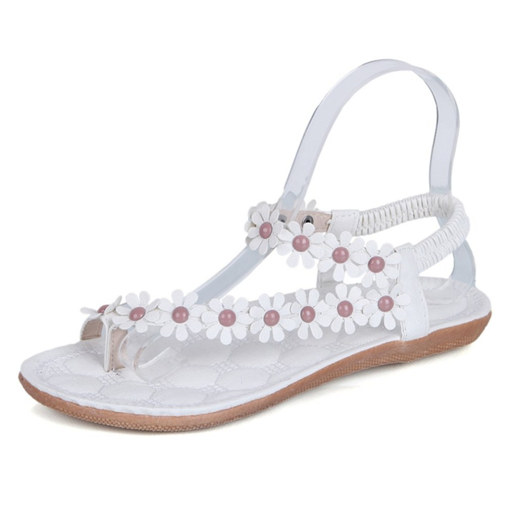 Summer Gladiator Women Sandals Bohemia Style Shoes Women Platform Shoes sapato feminino Beach Summer Floral Sandals Flats casual bohemia women platform sandals fashion wedge gladiator sexy female sandals boho girls summer women shoes bt574