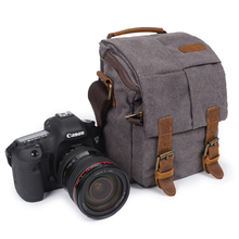 Photo Video Camera Waterproof Canvas Shoulder Retro Vintage DSLR Bag Carrying Case for Canon Nikon Sony SLR Photography цена