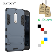 HATOLY For Nokia 5 Case Silicone Robot Armor Shockproof Rugged Rubber Slim Hard Back Phone Case for Nokia 5 Cover for Nokia 5 цена в Москве и Питере
