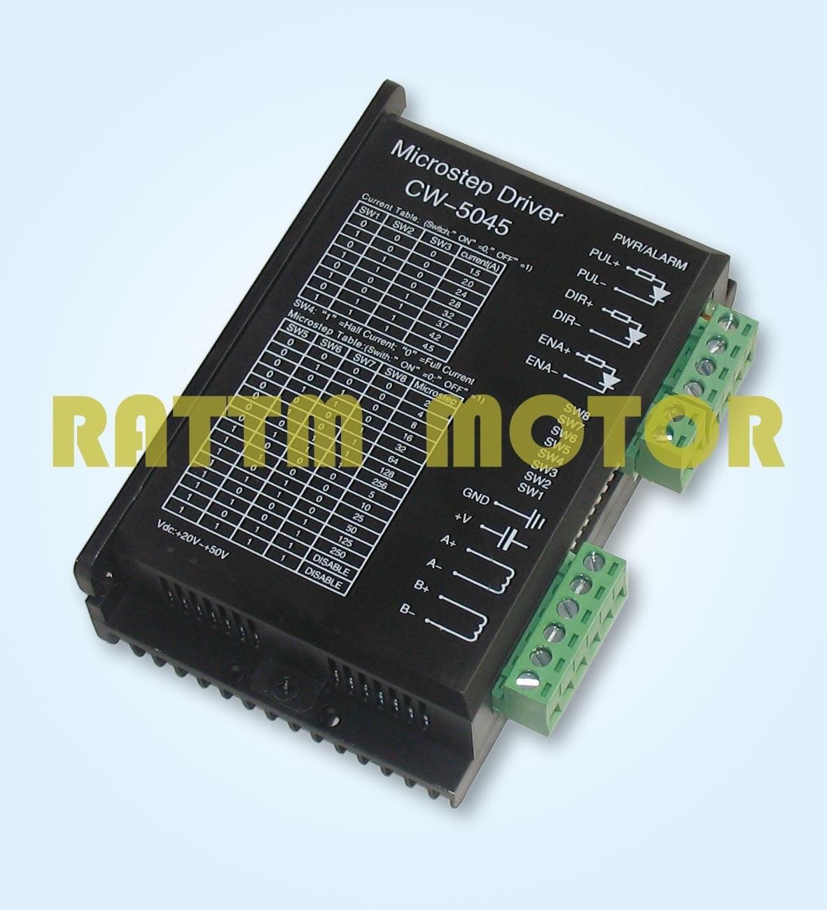 ФОТО New CW5045 stepper motor stepping motor driver 50V/4.5A Microstep 256