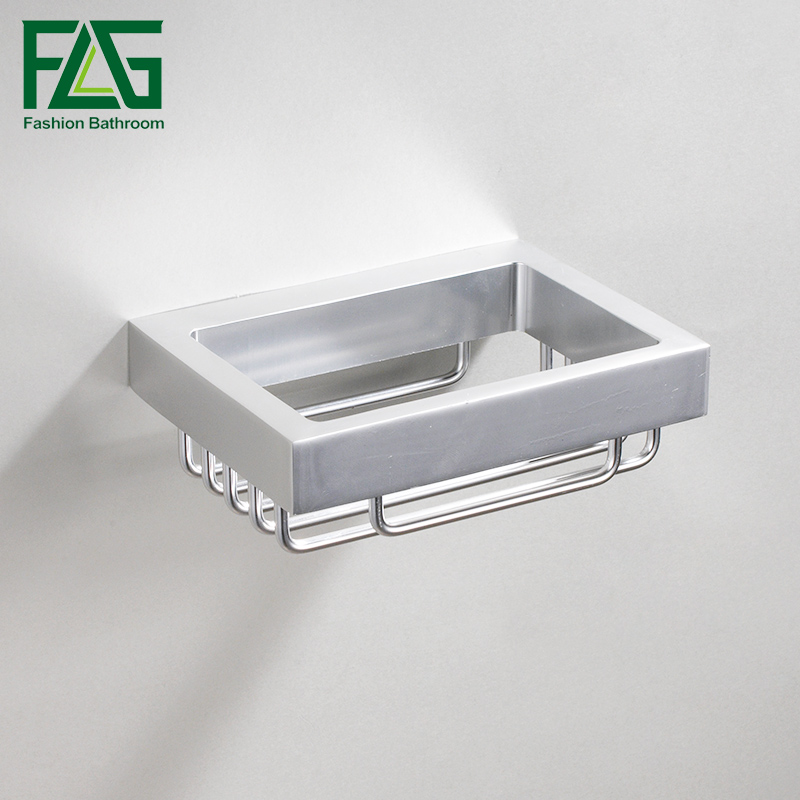 flg space aluminum shower soap holder bathroom soap box chrome soap dish shower tray bathroom accessories