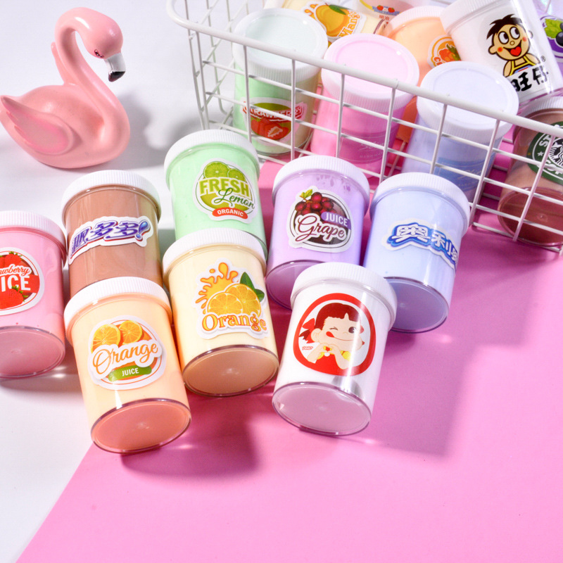 1PCS 120ml DIY Cotton Puff Slime Mud Modeling Children Intelligent Plasticine Magic Playdough Lizun Gift Kids Toys