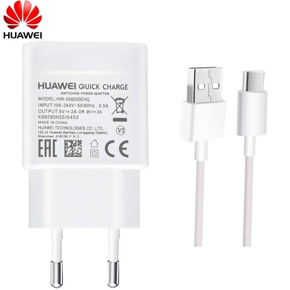 Huawei 9V2A EU зарядное устройство QC 2,0 Быстрая Зарядка адаптер USB Type-c для nova3 3i 4 honor 9 8x p7 p8 p9 p10 p20 lite mate 7 8 9