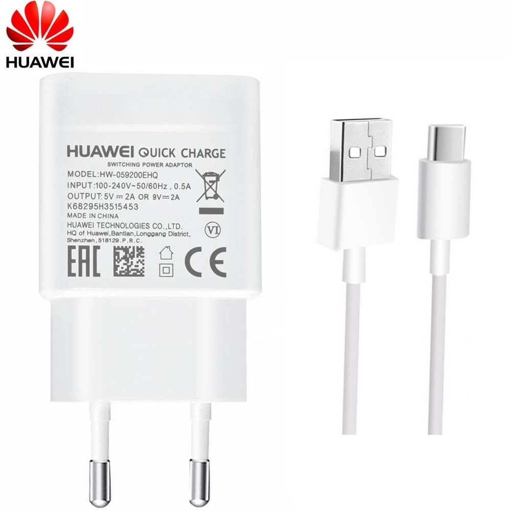 Huawei 9V2A EU charger QC 2.0 Quick Fast Charge Adapter USB Type-c Voor nova3 3i 4 honor 9 8x p7 p8 p9 p10 p20 lite mate 7 8 9