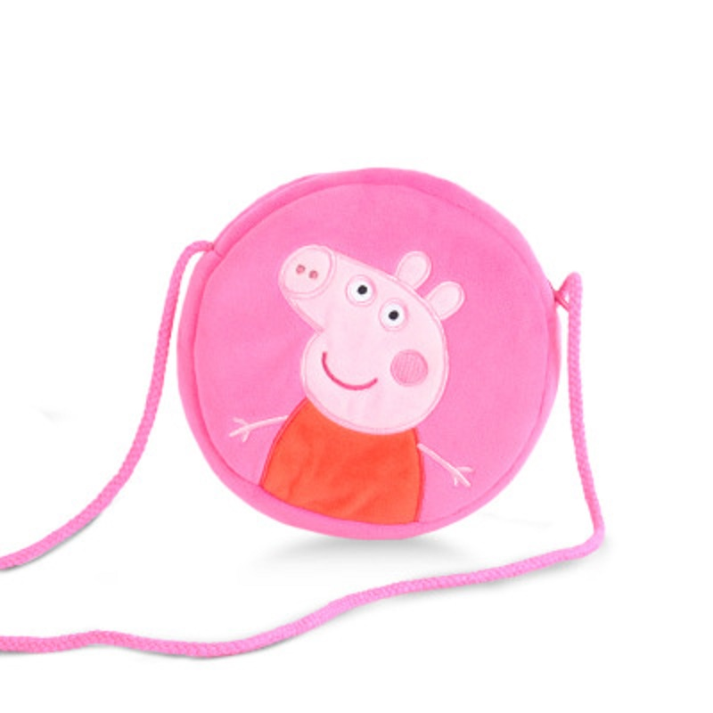 4 Style Genuine Peppa Pig Little Girl George Pink Pig Plush Toy Child Girl Boy Kawaii Backpack Wallet Bag Doll Children's gift