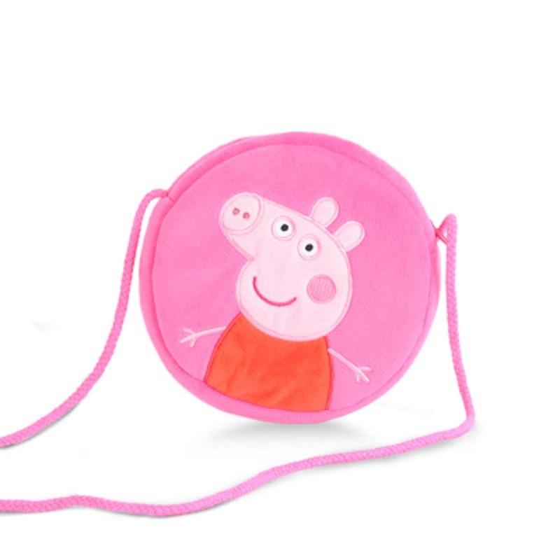4 Style Genuine Peppa Pig Little Girl George Pink Pig Plush Toy Child Girl Boy Kawaii Backpack Wallet Bag Doll Children's gift