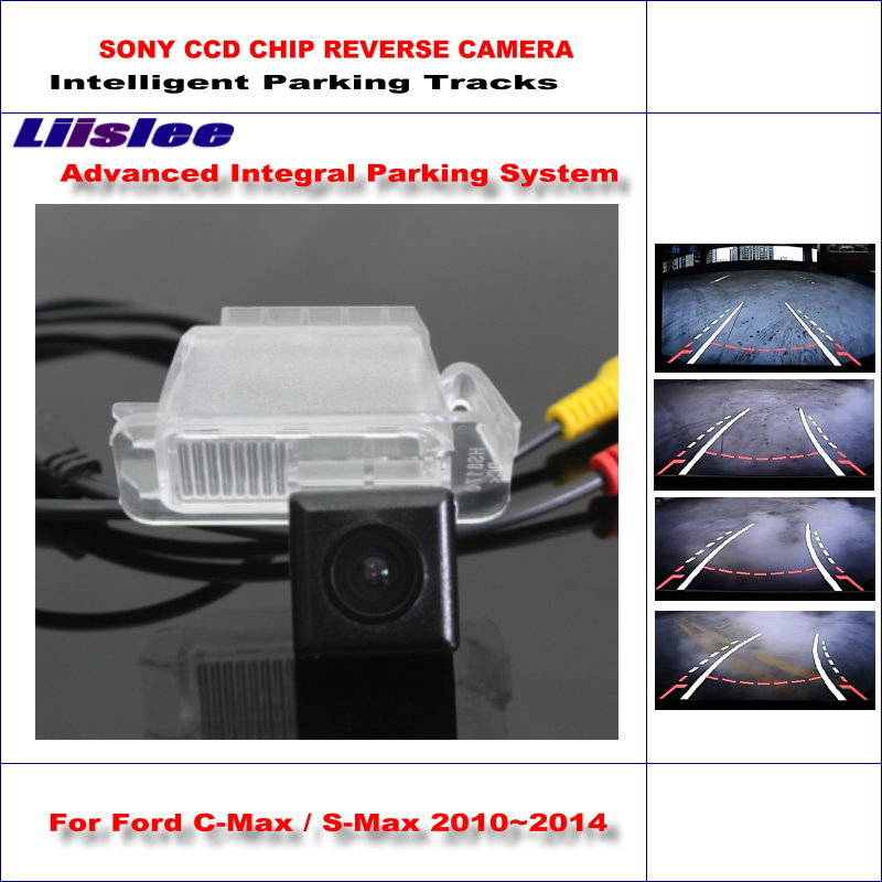 Liislee Intelligent Parking Tracks Car Rear Camera For Ford C-Max / S-Max / Mondeo Backup Reverse / NTSC RCA AUX HD 580 TV Lines цена 2017
