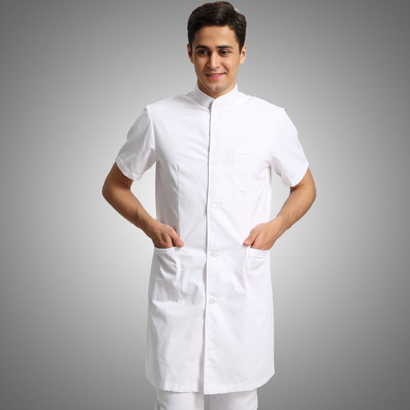 Medical Robe Summer Lab Coat Clinical Experiment Men Medical Uniforms Pharmacy Hospital Doctor Coat White Coats