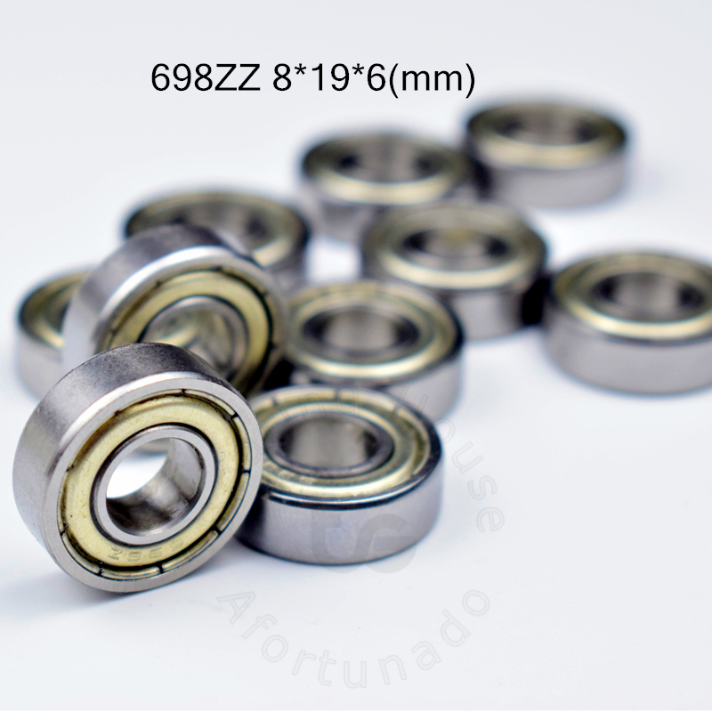 698ZZ 8*19*6(mm) 10pieces Bearing Free Shipping ABEC-5 Bearings 10pcs Metal Sealed Bearing 698 698Z 698ZZ Chrome Steel Bearing