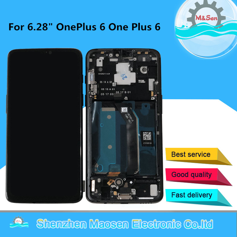 M Sen For 6 28 OnePlus 6 1 6 One Plus 6 LCD Screen Display With