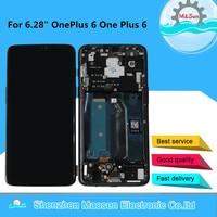 M & Sen для 6,28 OnePlus 6 1 6 One Plus 6 ЖК дисплей с рамкой + сенсорная панель дигитайзер для Oneplus 6 рамка дисплея