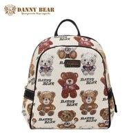 DANNY BEAR Fashion White Backpack For Women Teenager Girls Korean Students School Backpacks Female Cheap Travel Back Pack Bags